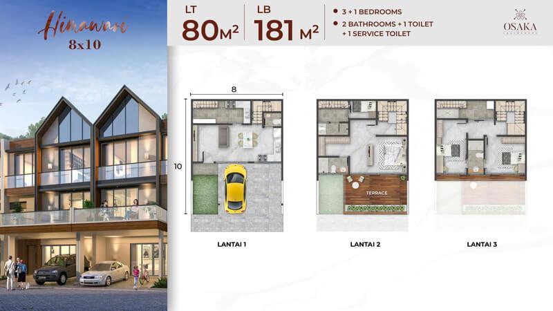 Rumah Osaka Residence PIK 2 Tipe Himawari