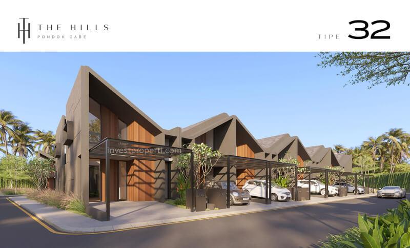 Cluster The Hills Pondok Cabe Tangerang Rumah Tipe 32