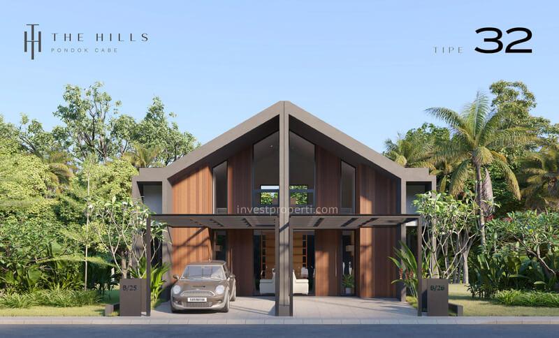 Rumah The Hills Pondok Cabe Tangerang Tipe 32