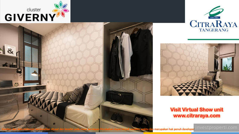 Show Unit Rumah Giverny CitraRaya - Bedroom 2