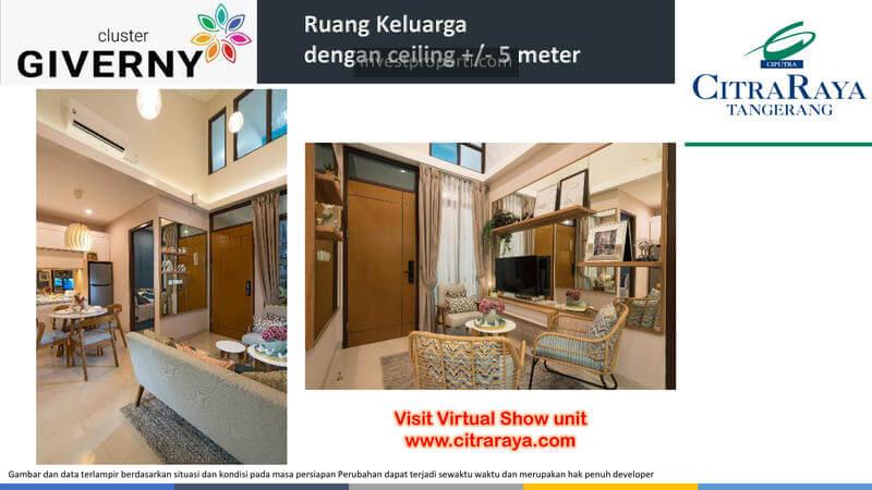Show Unit Rumah Giverny CitraRaya - High Ceiling