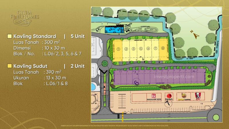 Siteplan Kavling Citra FineHomes Jakarta