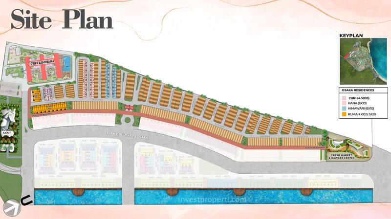 Siteplan Osaka Residences PIK 2 Jakarta