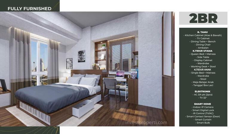 Tokyo Riverside Apartemen PIK 2 Tipe 2 Bedroom