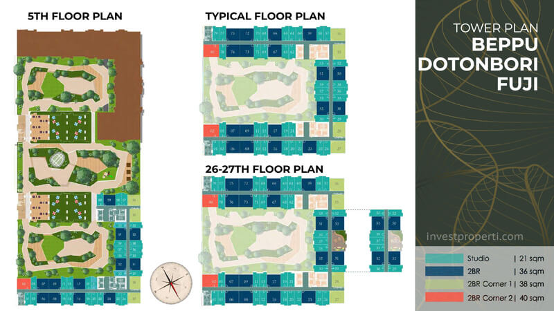 Tower Plan Tokyo Riverside Apartemen PIK 2