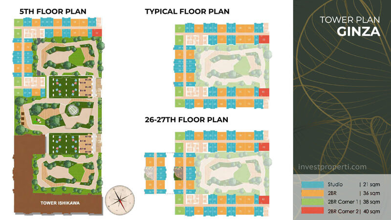 Tower Plan Tokyo Riverside Apartemen PIK 2 - Ginza