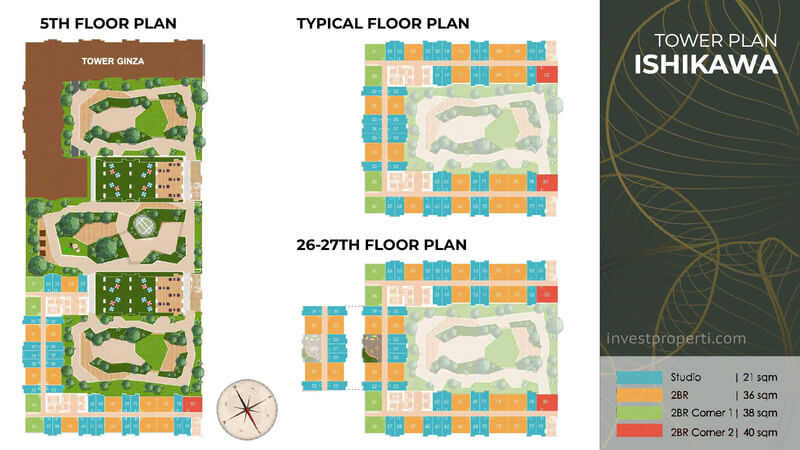 Tower Plan Tokyo Riverside Apartemen PIK 2 - Ishikawa