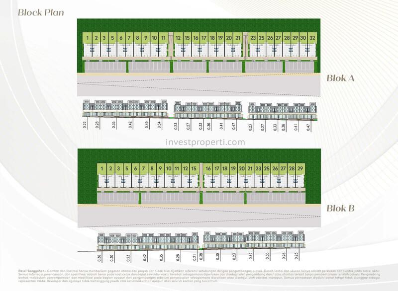 Blok Plan Ruko Agatis Kota Podomoro