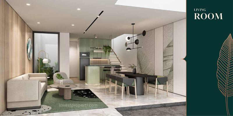 Desain Ruang Tamu Rumah Anwa Puri