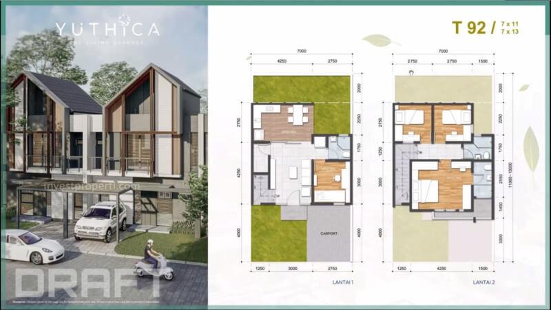 Dijual Rumah Yuthica BSD Tipe 92