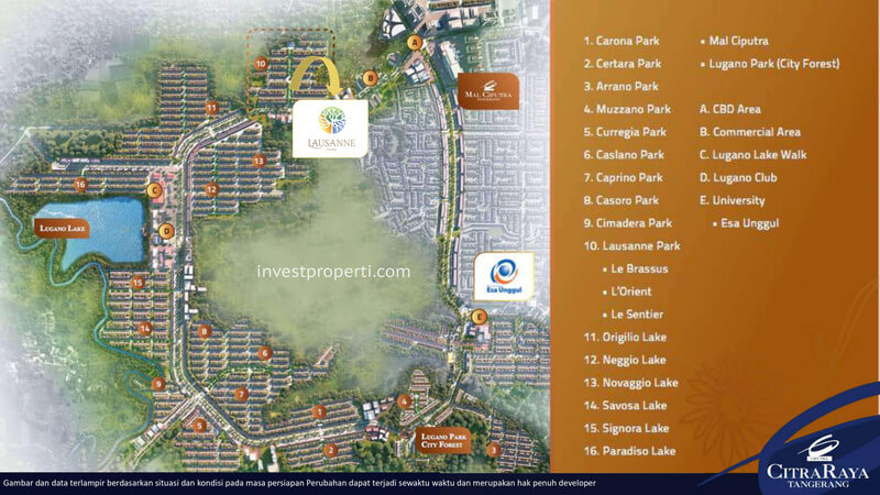 Lokasi Cluster Lausanne Park Citra Raya