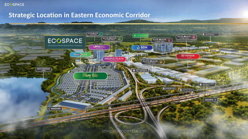 Lokasi EcoSpace Business Park Karawang