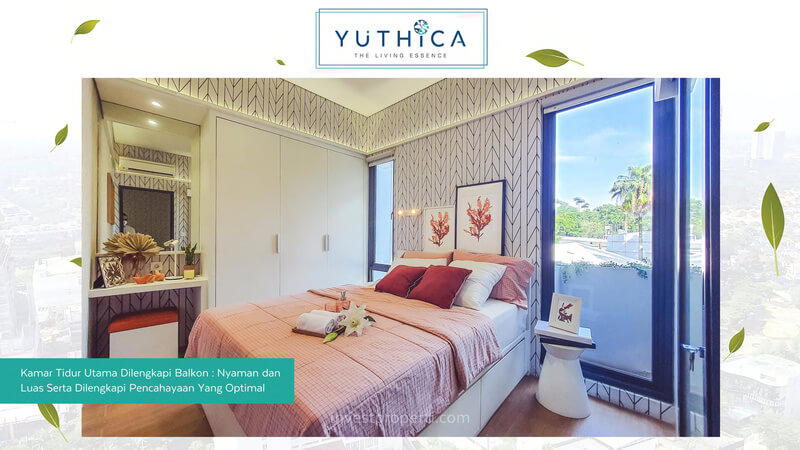 Show Unit Rumah Yuthica BSD - Master Bedroom