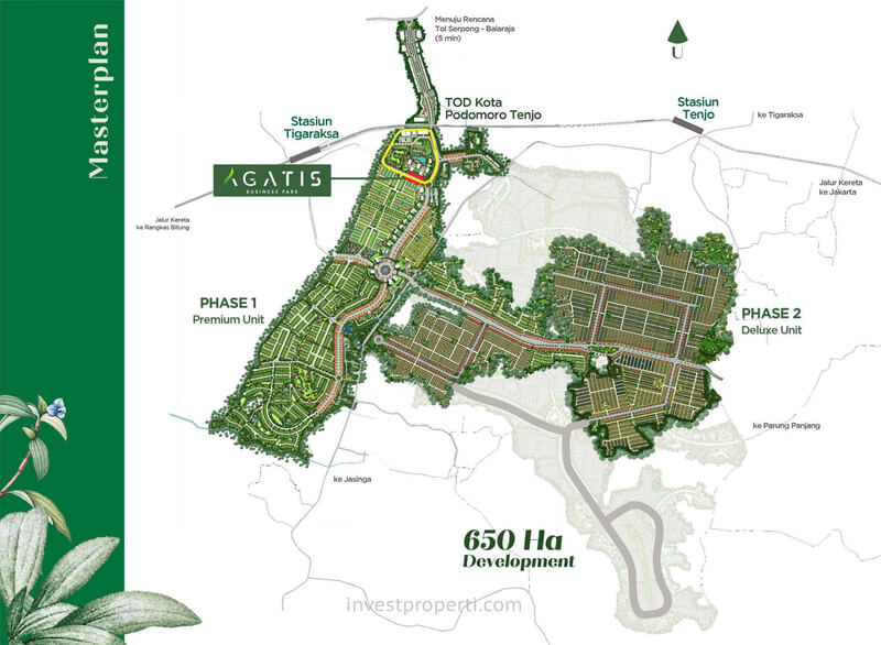 Lokasi Agatis Business Park Kota Podomoro