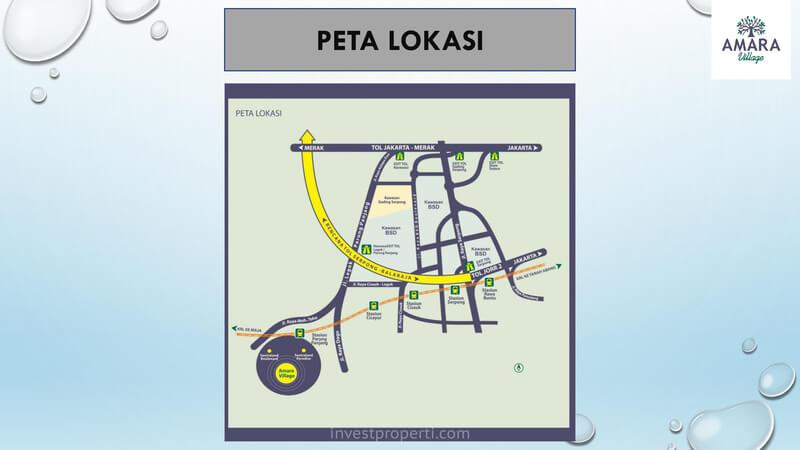 Peta Lokasi Amara Village Parung Panjang