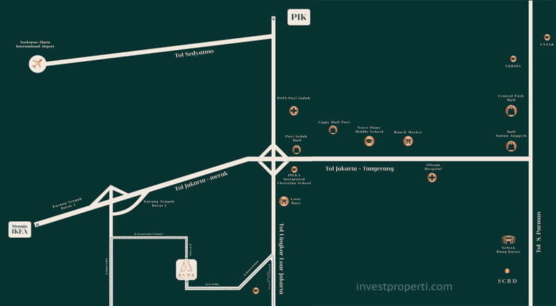 Peta Lokasi Anwa Residence Puri