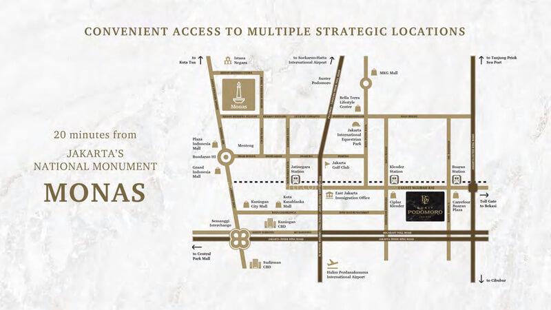 Peta Lokasi Bukit Podomoro