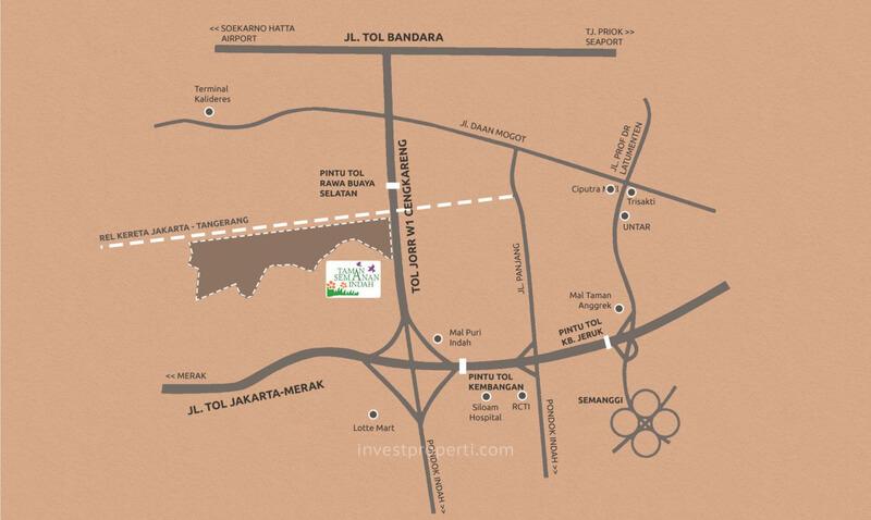 Peta Lokasi Taman Semanan Indah