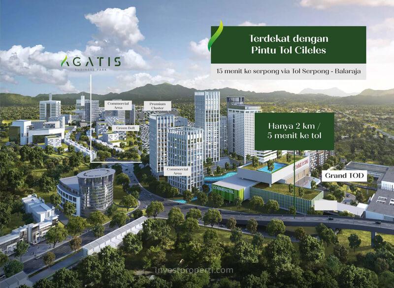 Lokasi Ruko Agatis Business Park Kota Podomoro