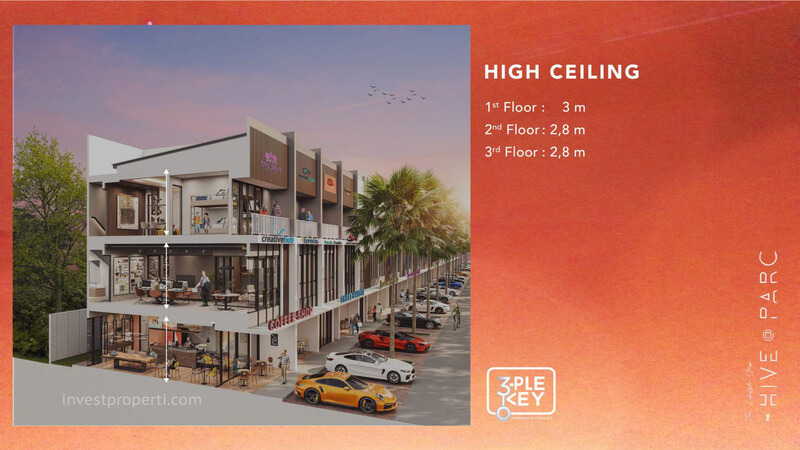 Ruko Hive Parc Lippo Karawaci - High Ceiling
