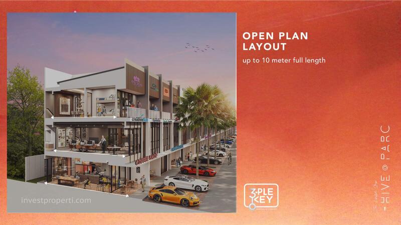 Ruko Hive Parc Lippo Karawaci - Open Plan Layout