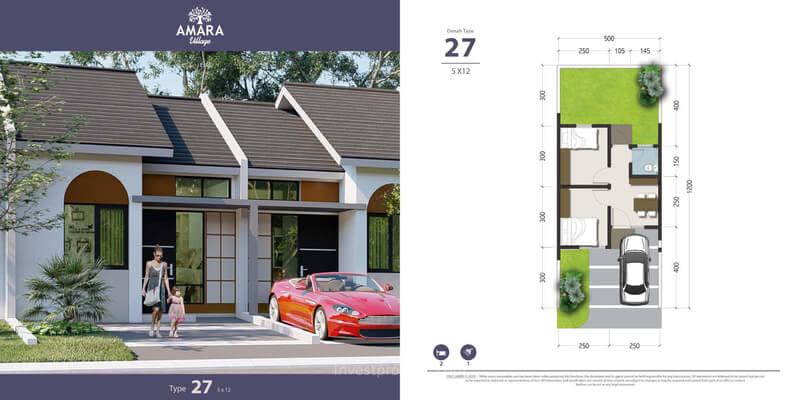 Rumah Amara Village Parung Tipe 27