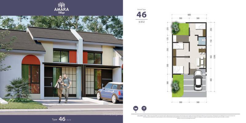 Rumah Amara Village Parung Tipe 46