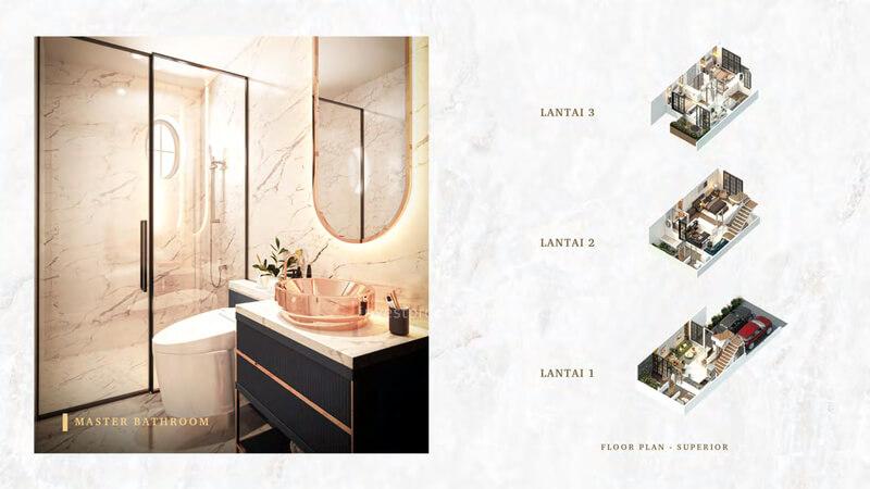 Rumah Bukit Podomoro Jakarta Tipe 6 - Master BathRoom