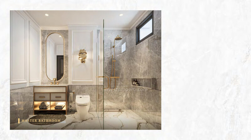 Rumah Bukit Podomoro Jakarta Tipe Art Deco - Master Bathroom