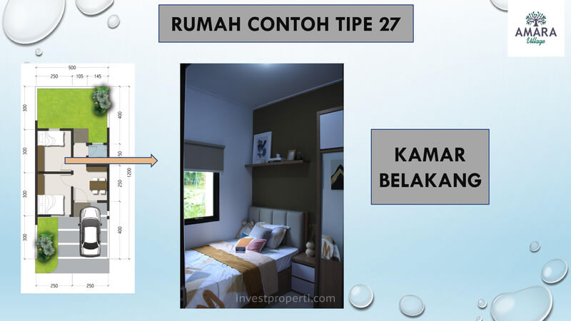 Rumah Contoh Amara Village Parung Tipe 27 - Kamar Belakang