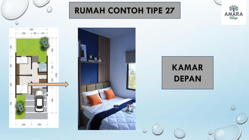 Rumah Contoh Amara Village Parung Tipe 27 - Kamar Depan