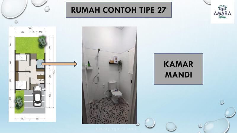 Rumah Contoh Amara Village Parung Tipe 27 - Kamar Mandi