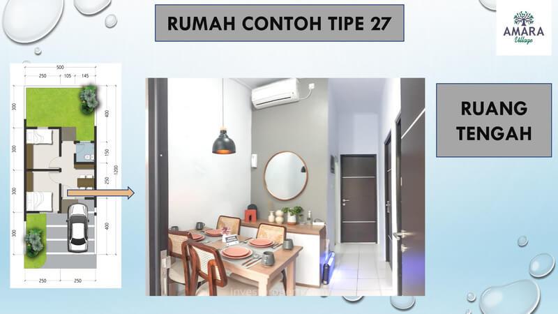 Rumah Contoh Amara Village Parung Tipe 27 - Ruang Tengah