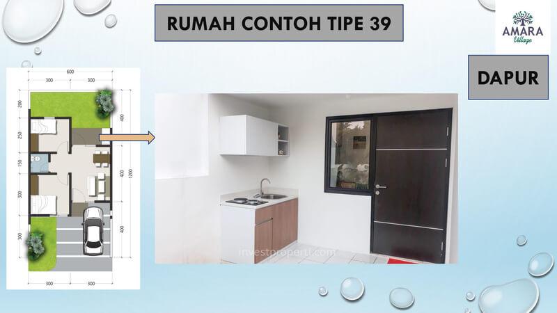 Rumah Contoh Amara Village Parung Tipe 39 - Dapur