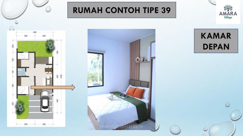 Rumah Contoh Amara Village Parung Tipe 39 - Kamar Depan