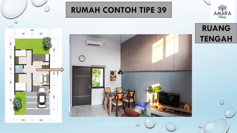 Rumah Contoh Amara Village Parung Tipe 39 - Ruang Tengah