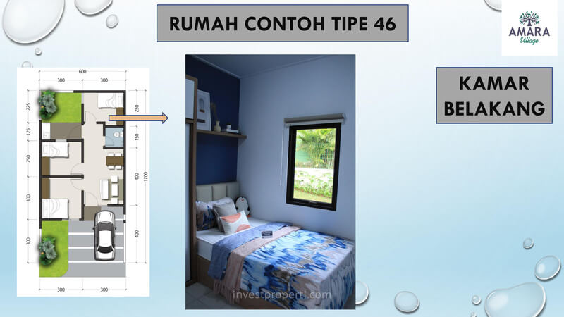 Rumah Contoh Amara Village Parung Tipe 46 - Kamar Belakang