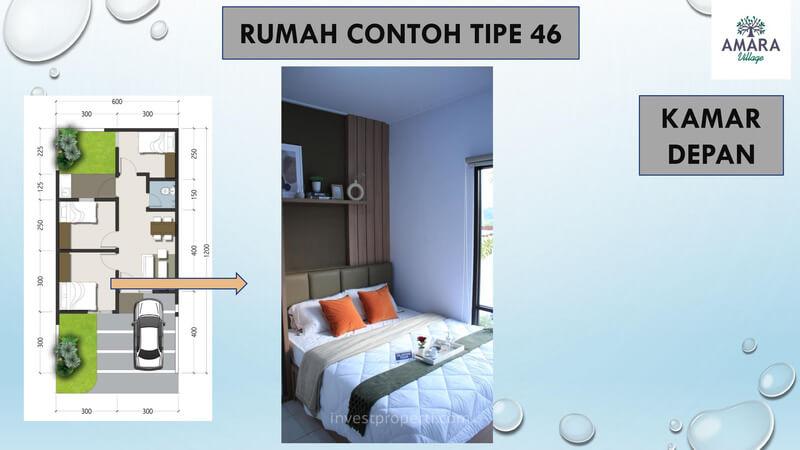 Rumah Contoh Amara Village Parung Tipe 46 - Kamar Depan