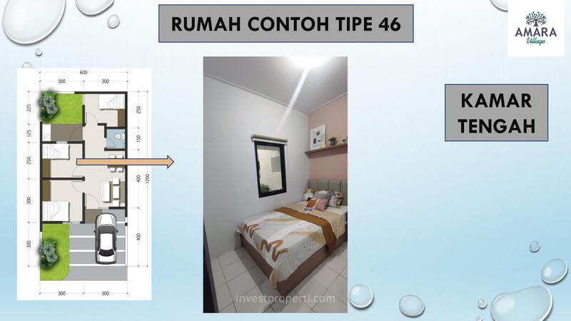 Rumah Contoh Amara Village Parung Tipe 46 - Kamar Tengah
