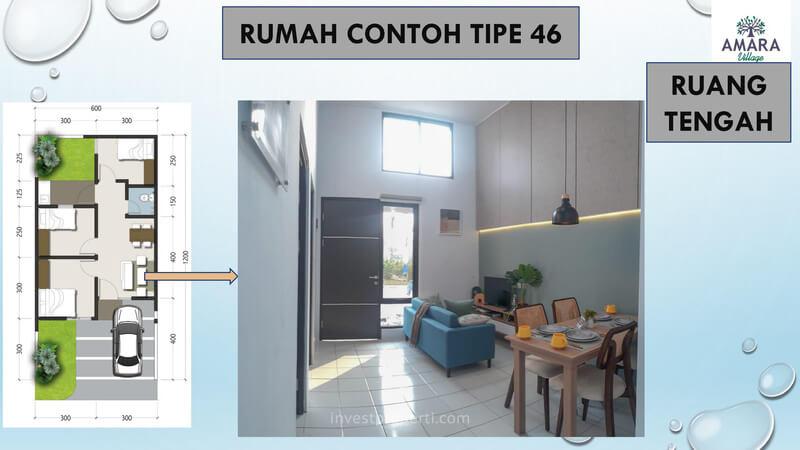 Rumah Contoh Amara Village Parung Tipe 46 - Ruang Tengah