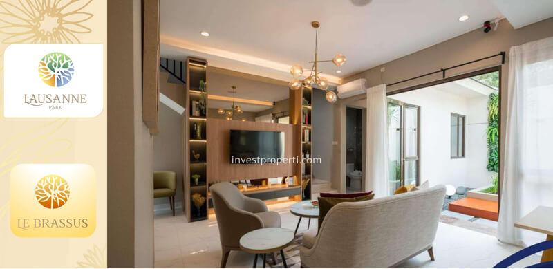 Living Room Rumah Le Brassus CitraRaya Tipe L7