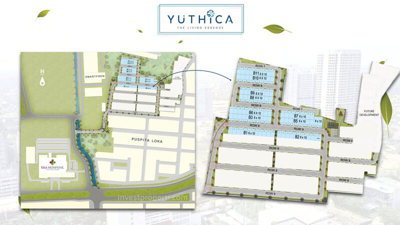 Siteplan Cluster Yuthica BSD
