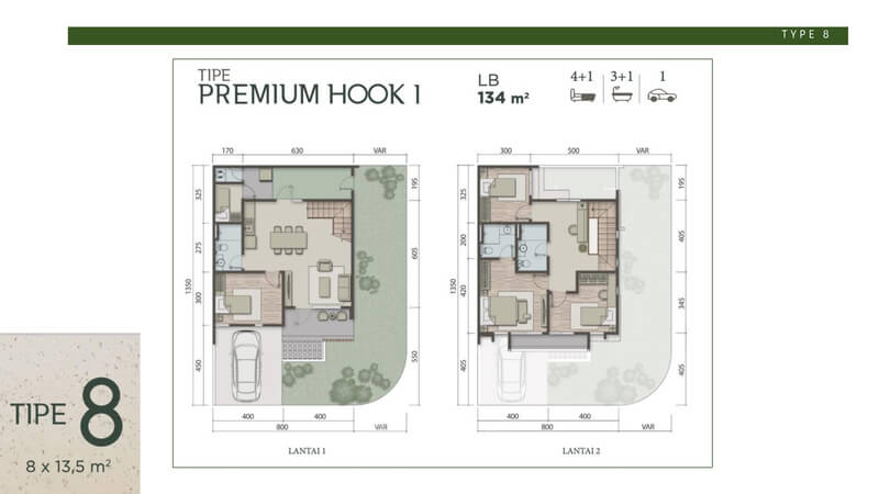 Denah Rumah Carson Summarecon Serpong Tipe 8 Premium Hook 1
