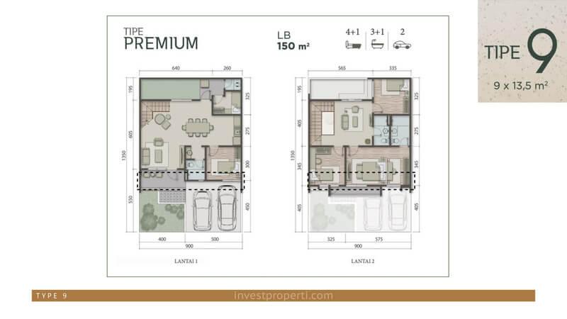 Denah Rumah Carson Summarecon Serpong Tipe 9 Premium