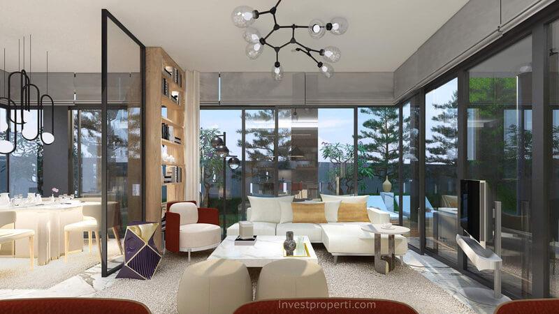 Living Room Rumah Brava Himalaya Lippo Village